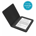 """eBook четец BOOKEEN SAGA, 6"""", Силиконов калъф, Черен BOOKEEN-CYBSB2F-BK"""