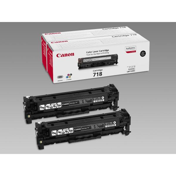 Консуматив Canon CRG-718BK, 2Pk