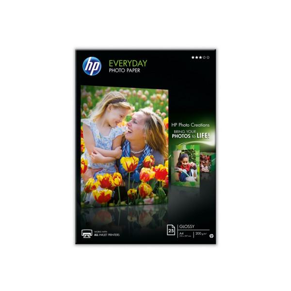 Хартия HP Everyday Glossy Photo Paper-25 sht/A4/210 x 297 mm