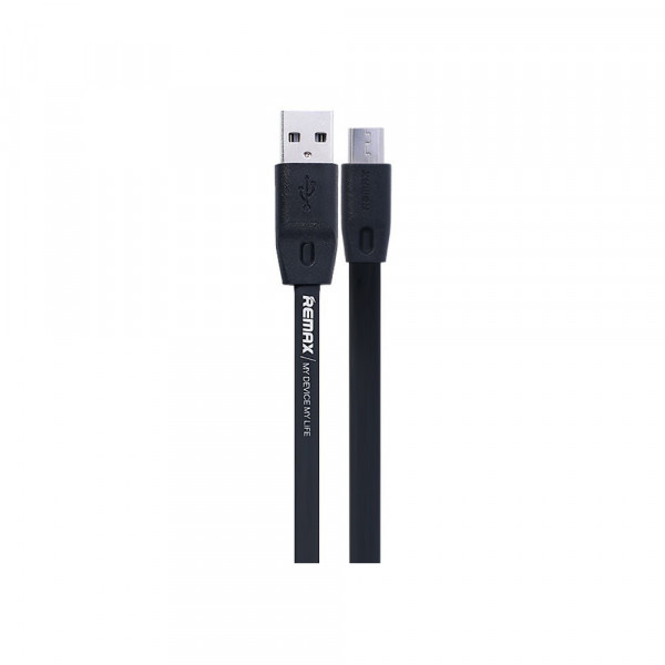 Кабел за данни micro USB Flat, Remax Full Speed RC-001m, 1м, Черен - 14349