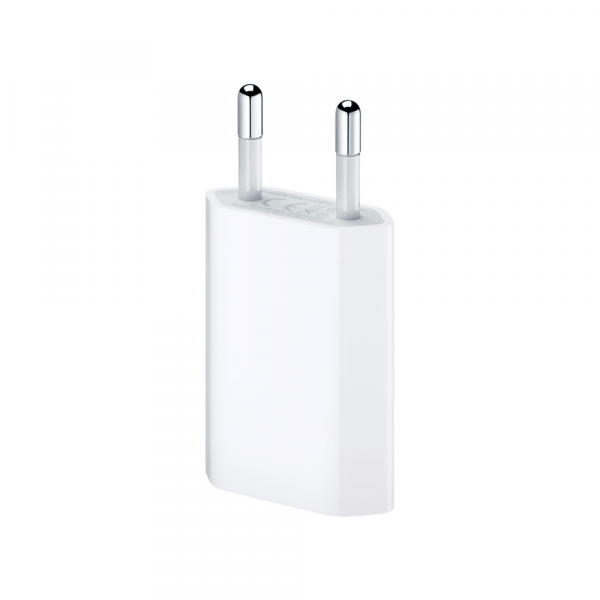 Мрежово зарядно устройство, No brand, 5V/1A 220V, 1.0m, Бял - 14852