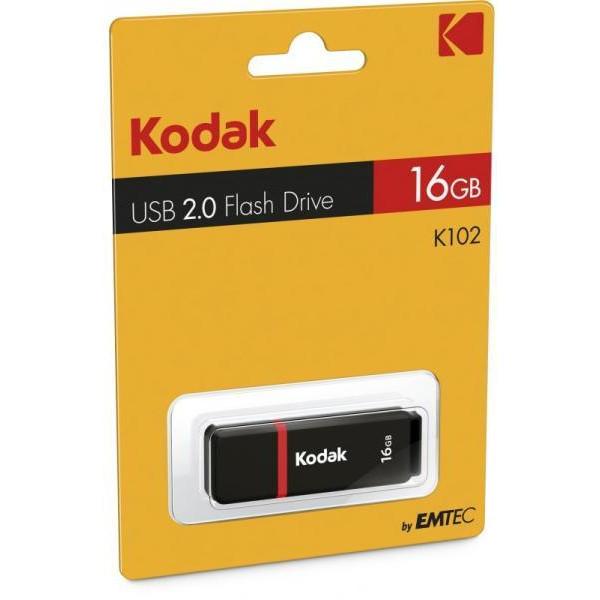Флаш памет 16GB Kodak K102 USB2.0 Flash Drive Black EKMMD16GK102
