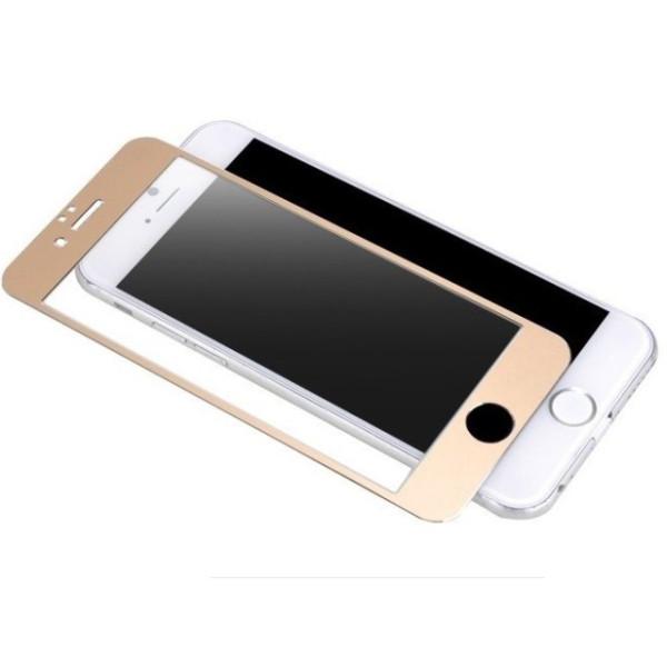 Протектор дисплей No brand за iPhone 6 Plus, Силикон, Златен - 52149