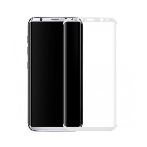 Стъклен протектор за целия екран, No brand, За Samsung Galaxy S8 Plus, 0.3mm, Бял - 52293
