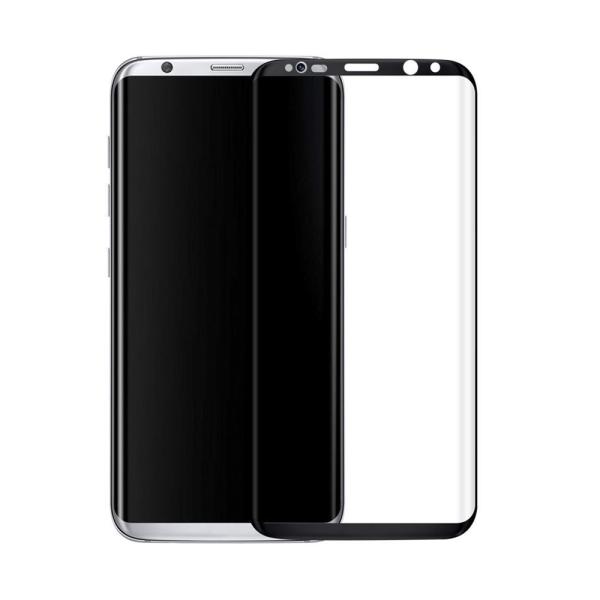 Стъклен протектор за целия екран, No brand, За Samsung Galaxy S8 Plus, 0.3mm, Черен - 52294