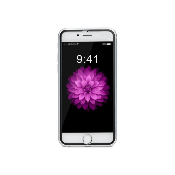 Стъклен протектор за целия дисплей, Remax Honor, за iPhone 6/6S Plus, С Метална лайстна, 0.3 mm, Черен - 52311