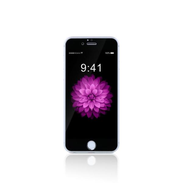 Стъклен протектор за целия дисплей, Remax Gener, Anti-Blu Ray, 0.15mm, за iPhone 6/6S, 0.3mm, Черен - 52316