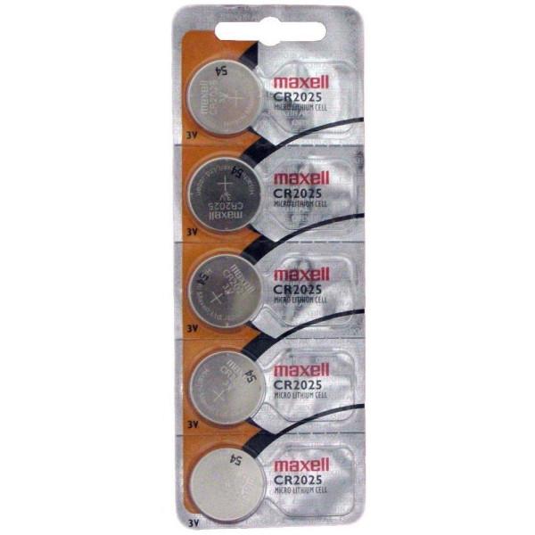 Бутонна батерия литиева CR-2025 3V  5бр. в блистер /цена за 5 бр./  MAXELL ML-BL-CR-2025-5PK