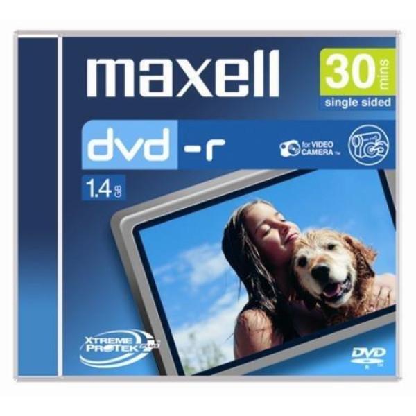 DVD-R  MAXELL, 8 см, 30 мин/1.4 GB, за камери, 1 бр. ML-DDVD-R-8SM-CASE-1PK