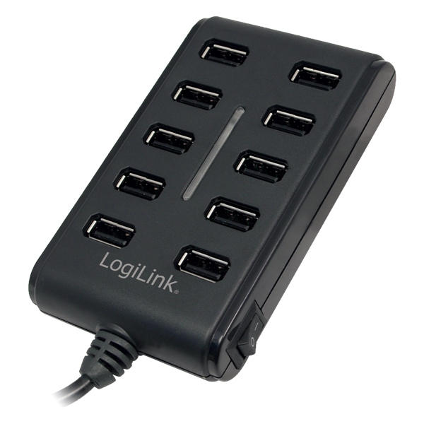 USB HUB 10xUSB2.0, Ext. power, LogiLink UA0125
