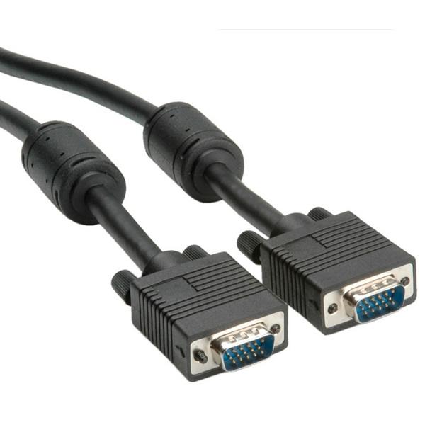 Cable VGA w/Ferrit, DDC, 15M/15M, 10m (S3628)
