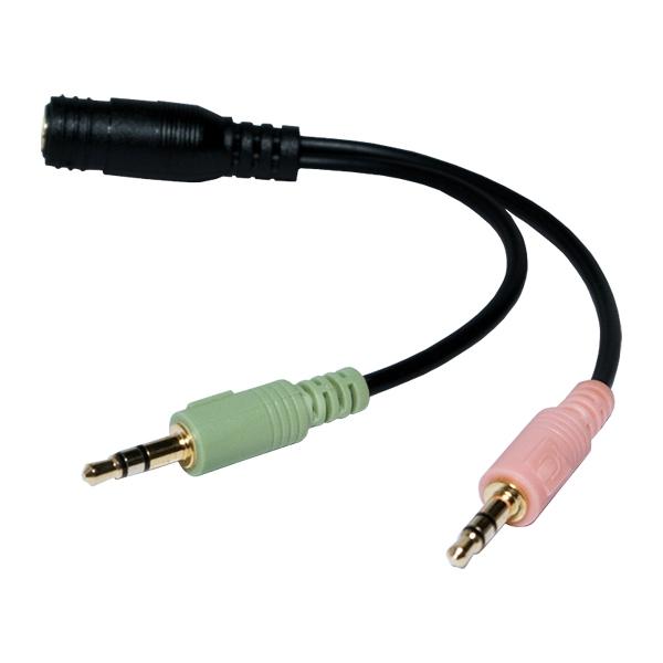 Adaptor 3.5mm-F 4pin/2X 3.5mm-M, Logilink CA0020