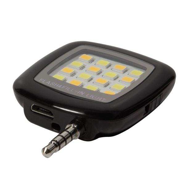 External LED flashlight w battery, LogiLink AA0080
